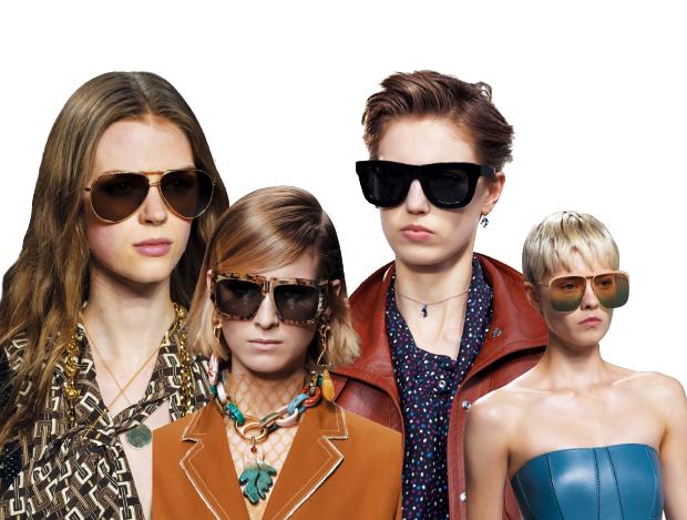 대담한 크기의 선글라스 셀렉션