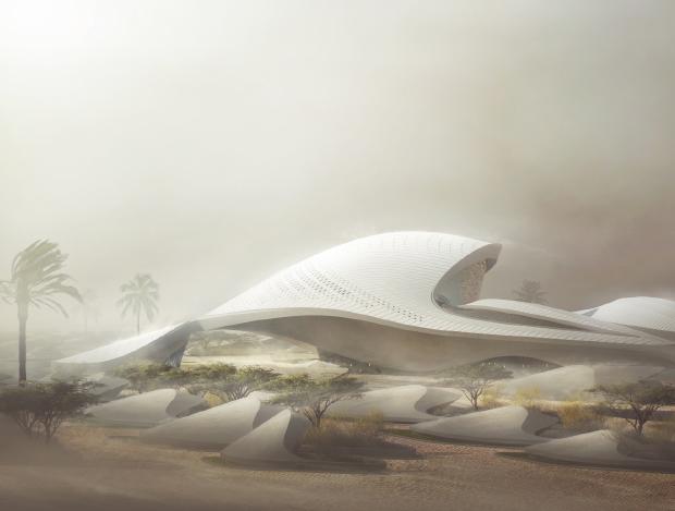 사막에서 핀 건축